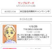 日付別出勤表画面(スマートフォン用)
